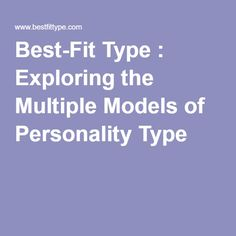 exploring my personality A free personality test built on empirical data instead of pigeon-holing you as a personality type, the sapa personality test scores you on 27 traits your customized report also includes scores on the big five model of personality.
