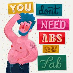 mellyemclark: Body positivity always! Print now available in my store!