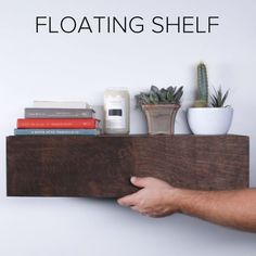 Floating Hidden Shelf #DIY #shelf #home