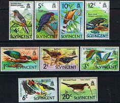 St Vincent 1973 Birds Set Fine Mint SG 361/8 Scott 28aa/9a Other St Vincent Stamps HERE