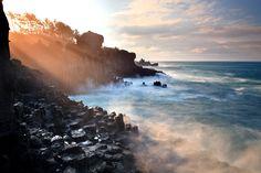 제주 서귀포 주상절리에서 만나는 제주바다의 고요한 아침