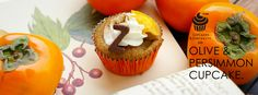 Olive & Persimmon cupcakes Curiosity, Muffin, Cupcakes, Breakfast, Desserts, Fun, Morning Coffee, Tailgate Desserts, Cupcake Cakes