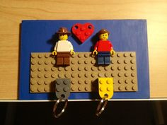 Lego Key Holder  Custom Characters by Olivard on Etsy