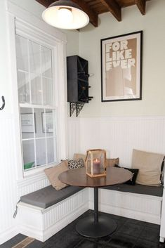 Ideas Banquette Seating In Kitchen Corner Apartment Therapy For 2019 Kitchen Corner Bench Seating, Kitchen Corner Booth, Corner Banquette, Corner Nook, Kitchen Nook, Kitchen Mats, Kitchen Time, Kitchen Layout, Diy Projects Apartment