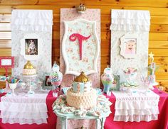 "Princess / Birthday ""Shabby Chic Baby Princess 1st Birthday Party"" 