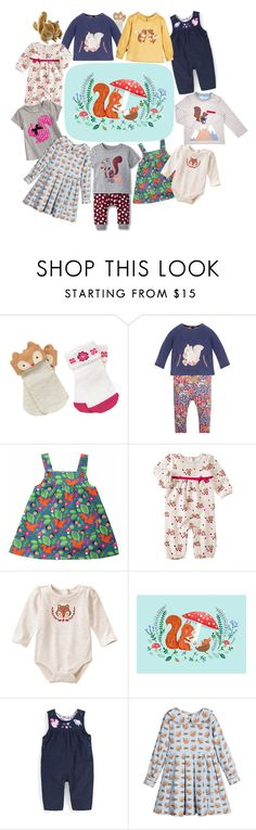 """squirrel baby"" by blumberg ❤ liked on Polyvore featuring Gymboree, Monsoon, Toby Tiger, Rachel Riley and John Lewis"