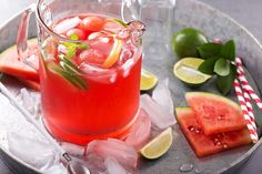 This watermelon detox water is perfect for a hot summers day - sweet, soothing & fresh. #detoxwater #healthy #recipes