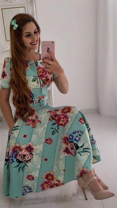 de7c5b983 #mustachestore #dress #vestido #estampa #lindo #rosas #flores #floral #moda  #modesta #paratudoqueelavaipassar #gospel #cristã #evangélica #rose  #pisamenos ...