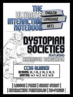harrison bergeron worksheets and multimedia for kurt vonnegut jr  dystopia interactive notebook unit lesson activities short story ccss essay topicsharrison bergeronnotebookactivitiessample