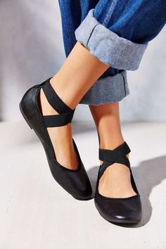 Kimchi Blue Elastic Cross-Strap Flat $29 at Urban Outfitters