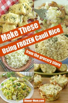 Frozen Cauliflower Rice Recipes Use a bag of cauliflower rice from the freezer aisle to make amazing low-carb cauliflower recipes. Tips to make everything from pizza crust and cauli-tots! Low Carb Diets, Low Carb Meal, Cauliflower Rice Casserole, Cauliflower Fried Rice, Cauliflower Crust Pizza, Cauliflower Breadsticks, Pizza Casserole, Riced Califlower Recipes, Frozen Cauliflower Recipes