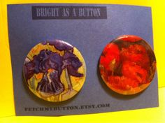 Van Gogh Pin Back Buttons - Poppies and Irises - found object art - 2.25 inches on Etsy, $5.00