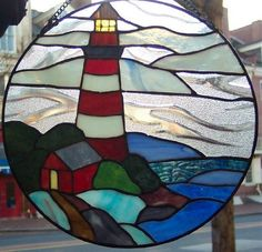Stained Glass Window Panel 12''x12'' Round {9038-c} by PRECIOUS IMPORTS. $24.99…