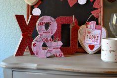 Glitter & Glue // Holidays ~ X & O decor. www.letsglitterandglue.com