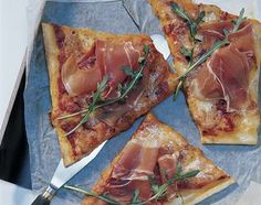 Rucola-Rohschinken-Pizza