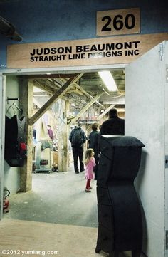 Judson Beaumont – Straight Line Designs Inc – Entrance of Artist's Studio. Check out some of his pieces in our Gallery: #DoctorVigariGallery on #CommercialDrive, #Vancouver