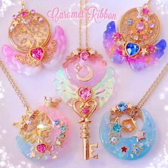❤ Kawaii Box ❤ The Cutest Subscription Box ❤ Kawaii Accessories, Kawaii Jewelry, Cute Jewelry, Jewelry Accessories, Filles Alternatives, Magical Jewelry, Resin Charms, Fantasy Jewelry, Cute Crafts