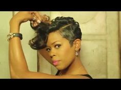 Malinda Williams' Mane Taming #13: Short Hair Pompadour with Extensions - YouTube