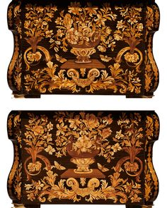c1680 bureau Mazarin, is attributed to Pierre Golle, who was the Master Furniture-Maker-in-Ordinary in Ebony to Louis XIV from 1656. $748,500