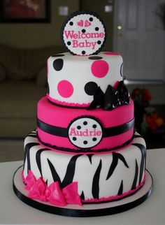 Baby Shower cake- This is what I'd love to have as my baby shower cake if I have a girl!! :)