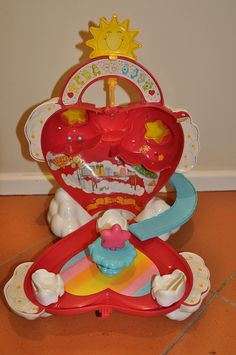 MY childhood in one image!   Vintage Care Bears Care A Lot Heart Shaped House by jadedoz, via Flickr