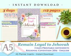 3 days Regional Convention 2016 Notebook by ArtsyPaperieShoppe