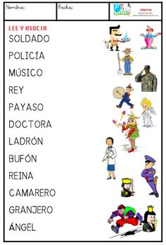 LEE PALABRAS Y ASOCIA CON IMAGEN - Aula PT Spanish Classroom Activities, Spanish Teaching Resources, Preschool Learning Activities, Spanish Language Learning, Speech Language Therapy, Speech And Language, Spanish Lessons For Kids, Alzheimers Activities, Phonics Song