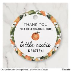 Our Little Cutie Orange Baby Shower Favor Tags Baby Shower Menu, Baby Shower Tags, Baby Shower Thank You, Baby Shower Diapers, Baby Shower Parties, Baby Boy Shower, Baby Shower Invitations, Baby Shower Gifts, Baby Showers