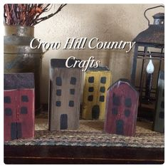 Salt box Houses by Crow Hill Country Crafts