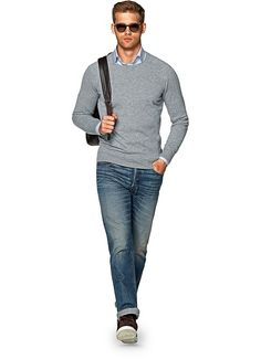 Light Grey Crewneck Sw675 | Suitsupply Online Store