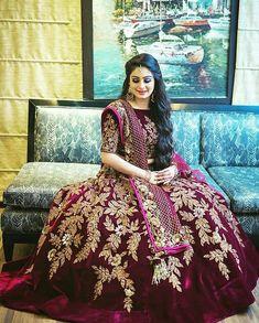 55 Bridal Lehenga designs that will inspire you - Wedandbeyond Indian Bridal Lehenga, Indian Bridal Wear, Indian Wedding Outfits, Pakistani Bridal, Bridal Outfits, Pakistani Dresses, Indian Dresses, Red Lehenga, Indian Outfits