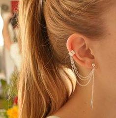 Jewelry & Accessories New Fashion Xiaojingling Rhinestone Ear Cuff Clipped Earrings Silver Piercing Ear Cartilage Women Party Statement Ear Clip Wedding Jewelry Clip Earrings