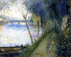 Landscape by the Seine, the Argenteuil Bridge - Pierre Auguste Renoir, 1878