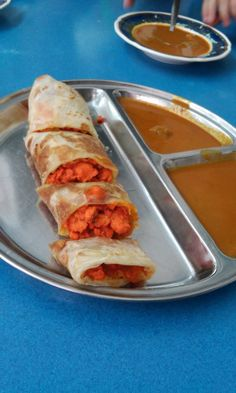 Roti canai chicken in Georgetown. Spicy goodness :)