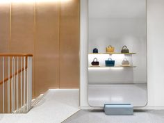Stair tread detailing - J&M Davidson London Store by Universal Design Studio.