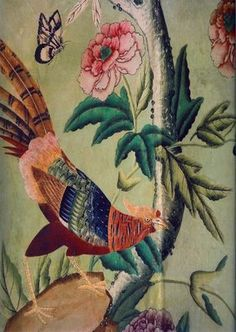 ROSE C'EST LA VIE: Winfield House.  Get a single sheet of wallpaper, frame it with molding- art for above the bed