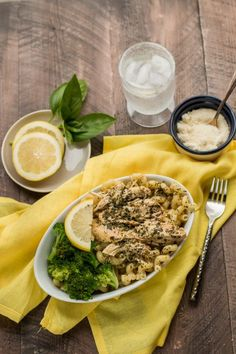 Slow Cooker Lemon Pesto Chicken {Freezer Meal Friendly} - Turned out good. Insanely easy and chicken came out really tender. Maybe use slightly less lemon juice next time. Prepped lunch like the picture, pasta and broccoli, heated up well. Would also be good on paninis or wraps, maybe shredded.