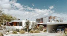 Kaufmann House Palm Springs, CA Modern Architecture House, Futuristic Architecture, Residential Architecture, Architecture Details, California Architecture, Chinese Architecture, Modern Houses, Richard Neutra, Desert House