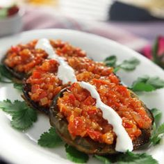 Baked Aubergines - lots of vegetarian choice in Indian Airfryer Book link to download here http://www.philips.co.in/consumerfiles/pageitems/master/mykitchen/homepage/Airfryer%20Recipe_Booklet_English-Single.pdf