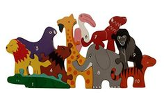 EcofriendlyBee Wooden Number Jigsaw Puzzle for 2 3 4 5 Years old - Animals Zoo Number Jigsaw 1-10 EcofriendlyBee Forest Animals, Zoo Animals, Handmade Wooden, Handmade Toys, Wooden Elephant, Wooden Numbers, Number Puzzles, Wooden Alphabet, Wooden Jigsaw Puzzles