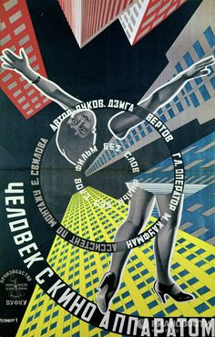 """As the first Soviet leader famously declared, cinema was nothing less than """"the most important art,"""" which was used by the new government to carry its messages across to the people. This RIA Novosti collection features the images of early Soviet movie posters. Photo: A poster for the film Man with a Movie Camera by Dziga Vertov, 1929."""