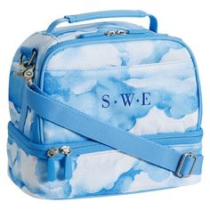 Gear-Up Blue Clouds Dual Compartment Lunch Bag