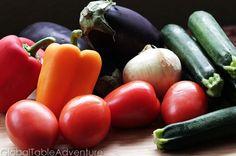 Rattatouille:  eggplant, bell pepper, onion, garlic zucchini