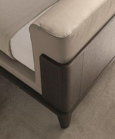 Upholstered leather double bed ASSUAN | Leather bed - MisuraEmme