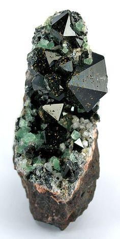 Smoky Quartz, Fluorite - Varmlandsberg Mine, Nordmark, Filipstad, Varmland, Sweden.