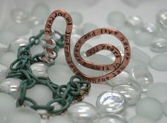 900 years of time and space...Doctor Who Inspired, Hammered 8 ga Bare Copper Necklace