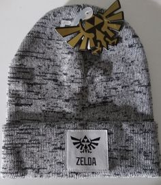 dc1d537514a Nintendo The Legend Of Zelda Video Game Logo Marled Cuff Beanie Knit Hat