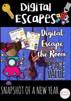 This Digital Escape Rooms: Back to School Snapshots of a New Year is perfect for grade Place Value Projects, Place Value Activities, Math Activities, 3rd Grade Math, Third Grade, Fourth Grade, First Day Of School Activities, Back To School Night, Scavenger Hunts