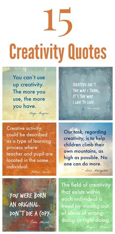 15 creativity quotes to inspire yourself or the way you parent. Change the way you view creativity and help your kids reach their creative potential.