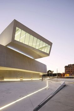 MAXXI Museum Rome by Zaha Hadid Architects. I love the strips of light in the ground, they remind me of the movie TRON.